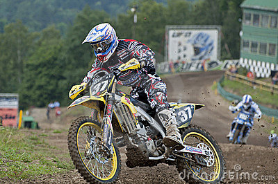 Motocross racers Editorial Stock Image