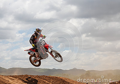 Motocross rider jumping Editorial Stock Image