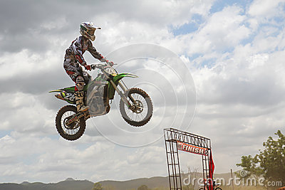 Motocross rider jumping Editorial Image