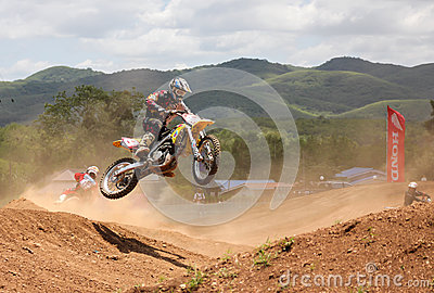 Motocross rider jumping Editorial Stock Photo