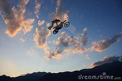 Motocross rider in midair Editorial Stock Image