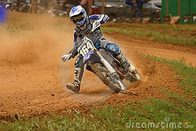 Motocross rider in national event Editorial Stock Photo