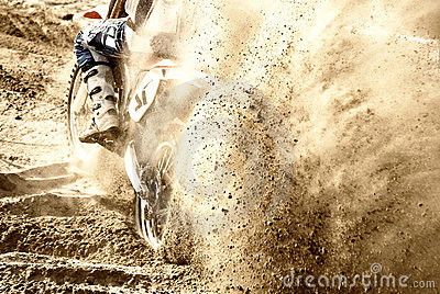 Motocross on the sand