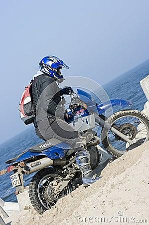 Motocross in sand