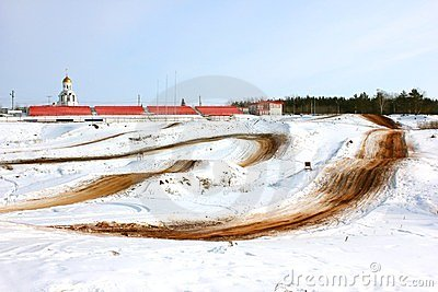 Motocross. Stadium in Kamensk-Uralsk