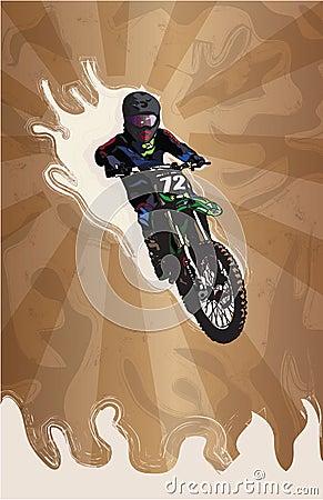 Motocross stylized