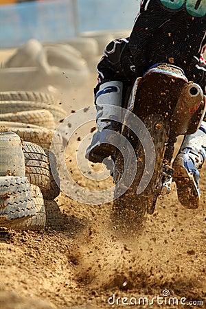 Motocrossen sprintar