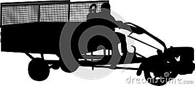 Motocultivator silhouette