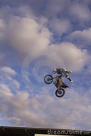 Motocycle Jump Editorial Photography