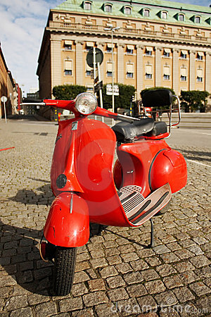 Free Motocycle On The Street In The Stockholm Old Tow Royalty Free Stock Photos - 6887238