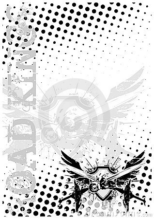 Motocycle wings poster background