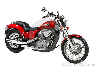 Motocykl czerwień