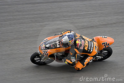 Motogp 125cc - Randy Krummenacher Editorial Stock Image