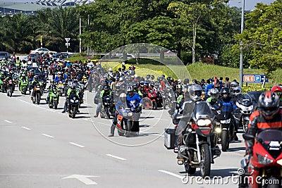 Motogp Biker Convoy Editorial Stock Photo