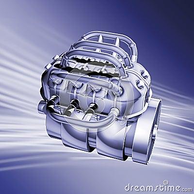 Motor blue