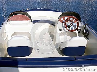 Motor boat control panel