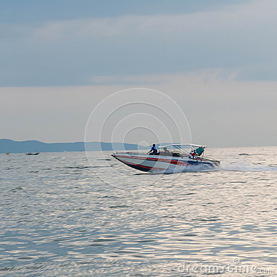 Motor boat driving motion (Speed boat)