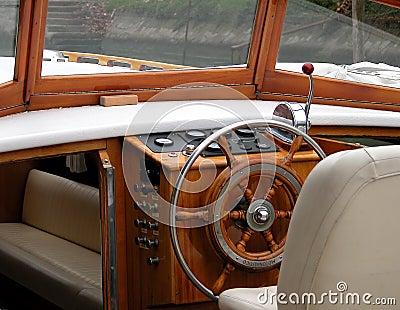 Motor boat interior