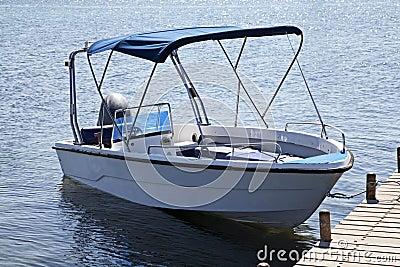 Motor boat on jetty