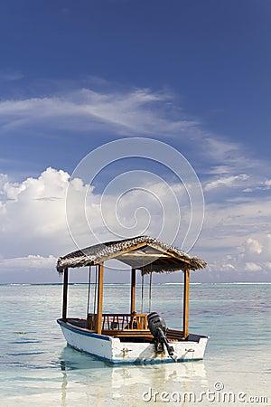 Motor Boat in the Maldives
