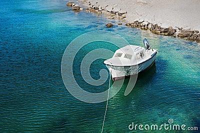 Motor boat at sea