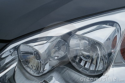 Motor car headlamps