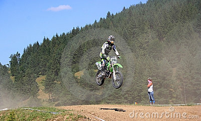 Motor cross rider in midair Editorial Photography