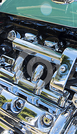 Motor cycle chrome detail