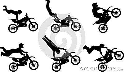 Motor cycle stunt riders