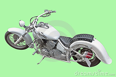 Motor cycler, isolated image