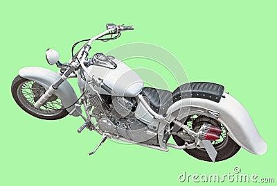 Motor cycler, isolated image