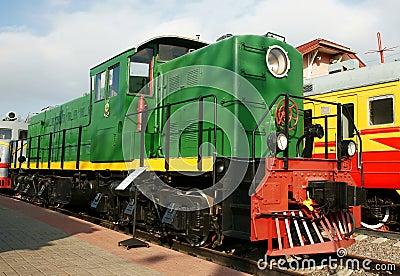Motor de diesel - a locomotiva