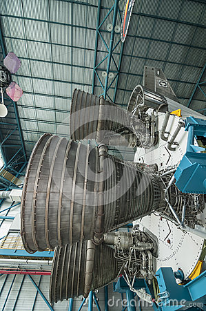 Motor de Saturn V Imagem de Stock Editorial