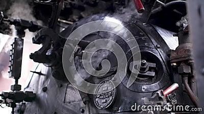 Motor de vapor en proceso metrajes