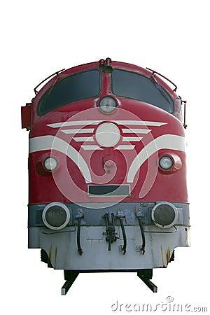 Motor diesel del tren