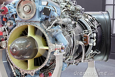 Motor of helicopter with turbine