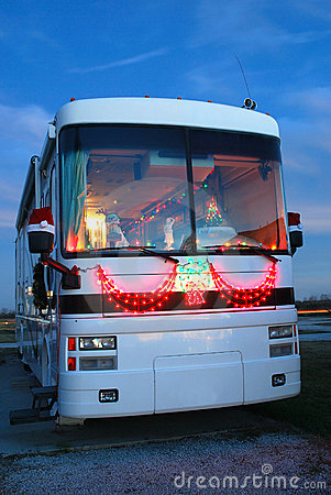 Motor home at Christmas