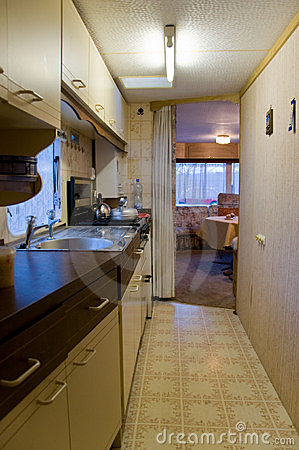 Motor home kitchen