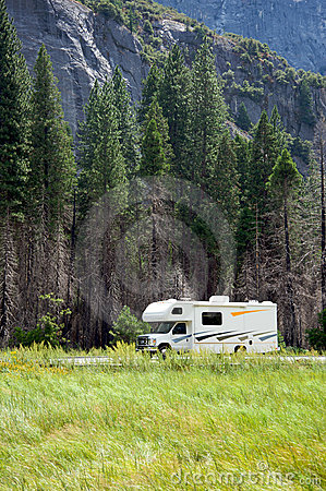 Motor home RV in Yosemite National Park