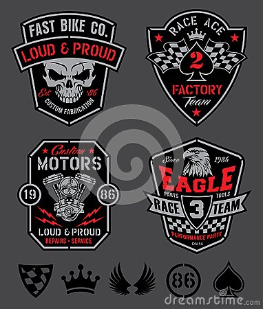 Free Motor Patches Emblem Set Royalty Free Stock Photo - 41370985