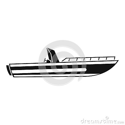 Motor speed boat icon, simple style Vector Illustration