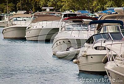 Motor yacht marina