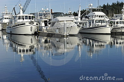 Motor Yachts Editorial Stock Photo