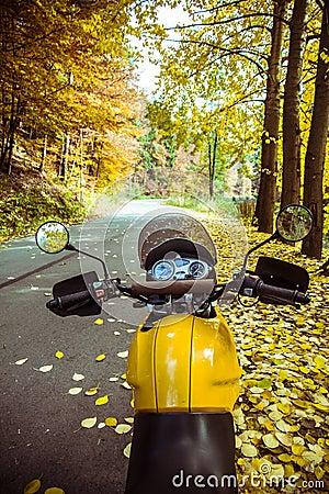 Motorbike adventure road