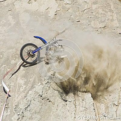 Motorbike Crash Hillside