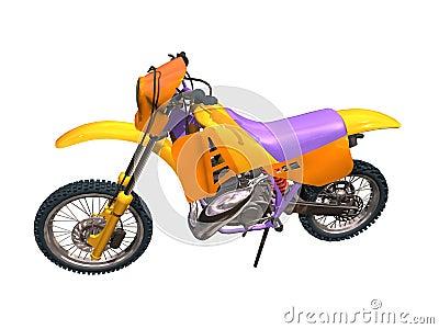 Motorbike cross-country