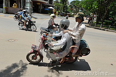 Motorbike Delivery Men Editorial Stock Image