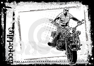 Motorbike dirty background horizontal