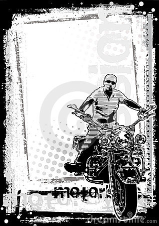 Motorbike dirty background vertical