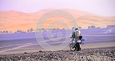 Motorbike in dunes no.1